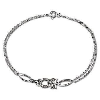 Silver women's bracelet Sterling 925 SilberDream zirconi 19 -0 cm white VSDA424W