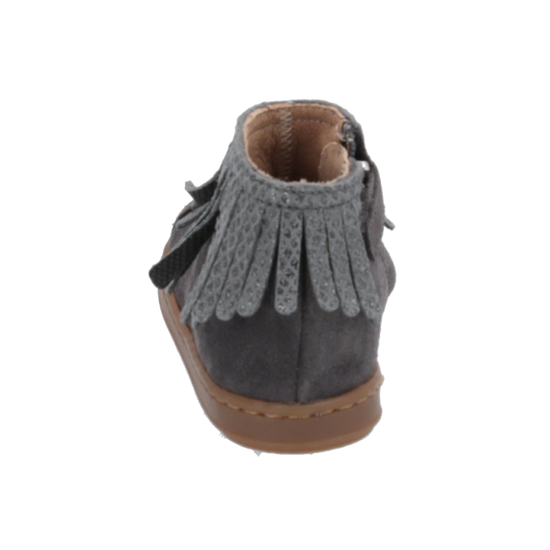 Shoo Pom Bouba Fringe Kids Girls Boots Grey Lace-Up Boots Winter - Gratis verzending cfqoUx