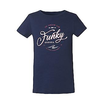 Funky Buddha Girls' T-Shirt With Logo Across The Chest