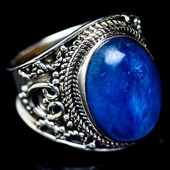 Kyanite Ring Size 6.25 (925 Sterling Silver)  - Handmade Boho Vintage Jewelry RING5437