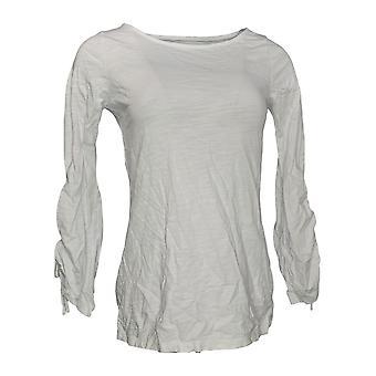 Belle by Kim Gravel Women's Top Long Sleeve Knit White A347148