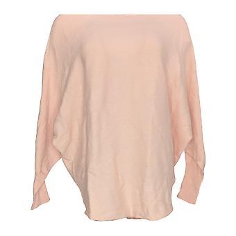 Belle By Kim Gravel Women's Top Bateau Neck Dolman Sleeve Pink A347116