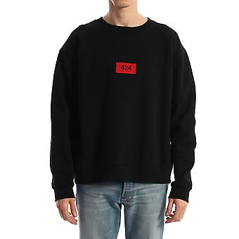 424 0062blk Men's Black Cotton Sweatshirt
