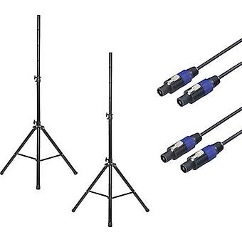 Renkforce PA hangszóró állvány készlet Teleszkópos, Magasság-állítható 1 db