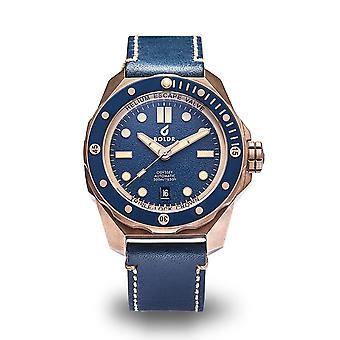 BOLDR Odyssey Aventurine Bronze Automatic Blue Dial Wristwatch