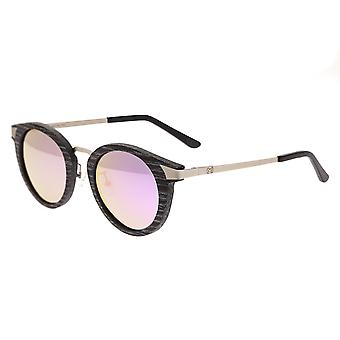 Earth Wood Zale Polarized Sunglasses - Black Stripe/Pink