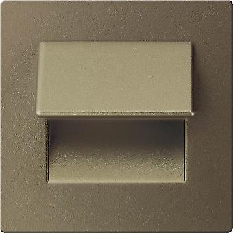 Deka Lámpara Incorporada Color Opaco Oro, Bronce en Metal, L7xP5,1xA7 cm