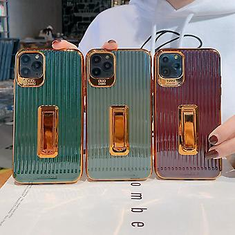 Stylish luxurious shell gold details and folding stand iphone11pro
