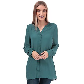 Women's Vero Moda Isabella Loose Fit Blouse in Turquoise