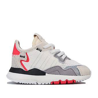 Boy's adidas Originals Infant Nite Jogger Trainers in White