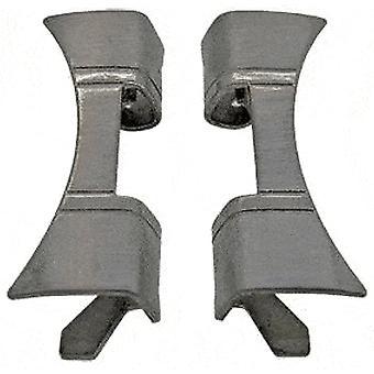 Montre bracelet pièce d'extrémité 20mm (8mm) extrémité courbe en acier inoxydable (paire)