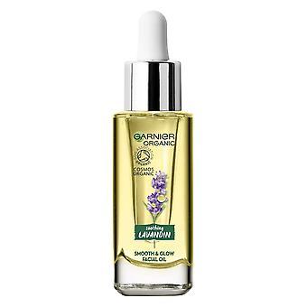 Garnier Økologisk Facial Oil Glat og Glow 30ml Beroligende Lavandin Alle hudtyper