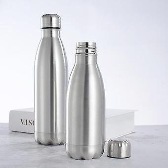 Sports Stainless Steel Insulated Vacuum Flask Water Bottle With Single Wall -