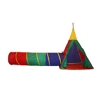 Charles Bentley Kinder's 3in1 Abenteuer Indoor/Outdoor Tepee Spielzelt Set
