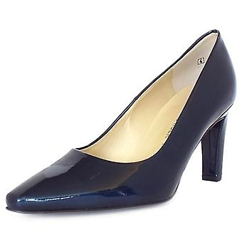 Peter Kaiser Tosca Classic Semi-pointed Court Schuhe In Navy Patent