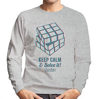 Rubik's Keep kalm en los het heren Sweatshirt
