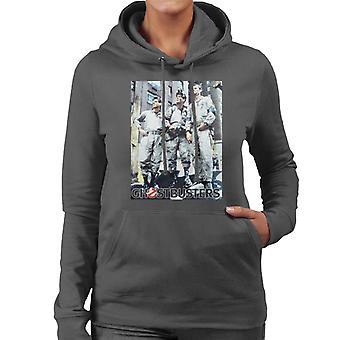 Ghostbusters Spengler Stantz & Venkman Photo Women's Hooded Sweatshirt