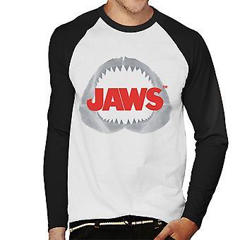 Jaws Teeth Logo Men's Baseball Long Sleeved T-Shirt