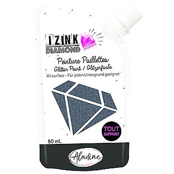 Aladine Izink Diamond Glitter Paint 24 karat sort 80ml