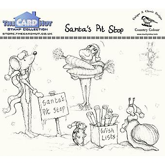 The Card Hut Santa's Pit Stop Clear Stamps