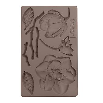 Re-Design with Prima Winter Blooms 5x8 Inch Mould