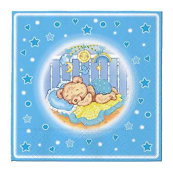 Baby Dreams Blau 33cm 3ply Lunch Servietten