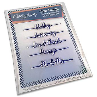 Claritystamp Line Sentiments Mariage Timbres clairs