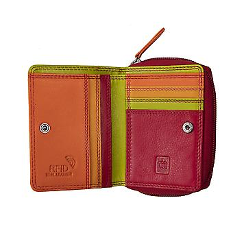 Primehide Small Womens Leather Purse Wallet RFID Blocking Card Holder 6085