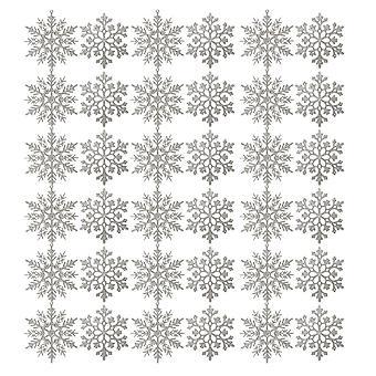 36PCS Christmas Tree Snowflake Decorations Silver