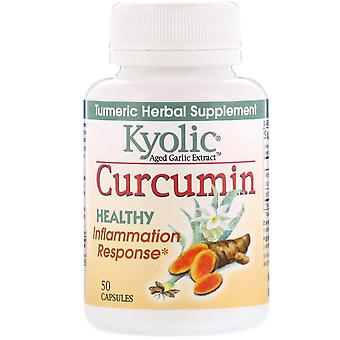 Kyolic, Aged Garlic Extract, Inflammation Response, Curcumin, 50 Capsules
