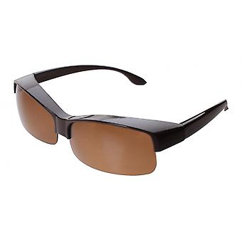 Sunglasses Unisex without frame brown with brown lens transfer