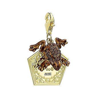 Harry Potter sterling hopea suklaa sammakko clip on charmia kanssa Swarovski kiteet