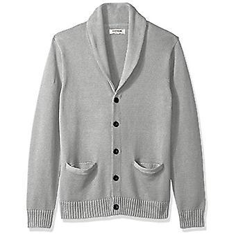 Brand - Goodthreads Men's Soft Cotton Shawl Cardigan Sweater, Heather ...