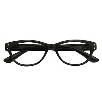 Reading Glasses Women's Classic Black Strength +3.00