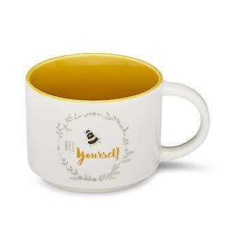 Cooksmart Bumble Bees Stacking Mug, Bee Yourself