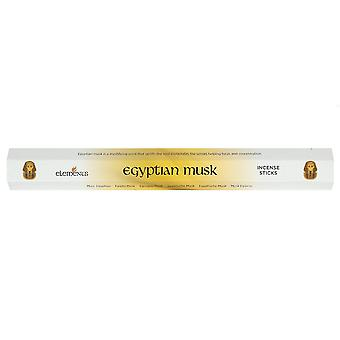 Elements Egyptian Musk Incense Sticks (Box Of 6 Packs)
