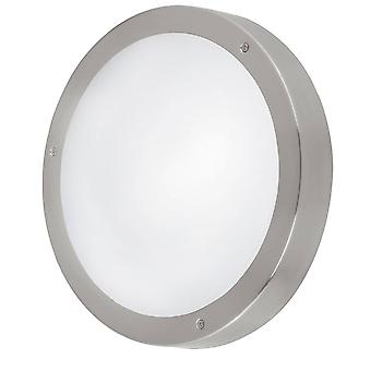 LED Outdoor Flush Wall Light Stainless Steel IP44