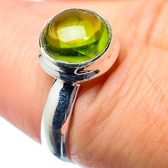 Peridot Ring Size 7 (925 Sterling Silver)  - Handmade Boho Vintage Jewelry RING26566