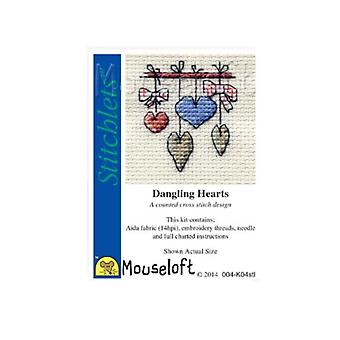 Dangling Hearts Stitchlets Counted Cross Stitch Kit