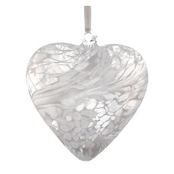 8cm Friendship Heart - White - Unique Gift and Hanging Decoration