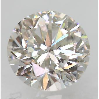 Zertifiziert 0.63 Carat E VS1 Round Brilliant Enhanced Natural Loose Diamond 5.31mm