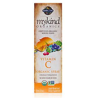 حديقة الحياة فيتامين C رذاذ العضوية, البرتقالي اليوسفي 2 أوقية سائلة