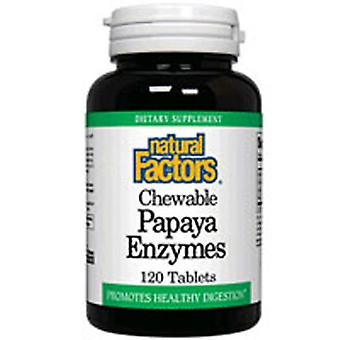Natural Factors Chewable Papaya Enzymes, 60 Tabs