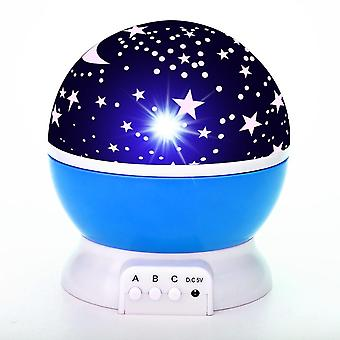 Sky Projektori Star Moon Galaxy Night Light Bedroom Sisustus projektori pyörii