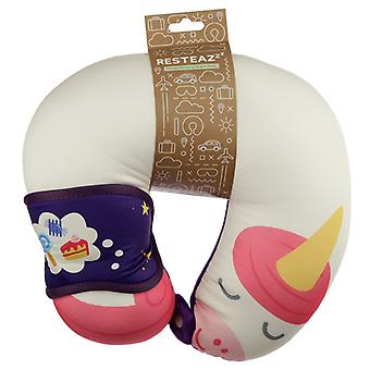 Unicorn Sweet Dreams Relaxeazzz Travel Pillow & Eye Mask Set