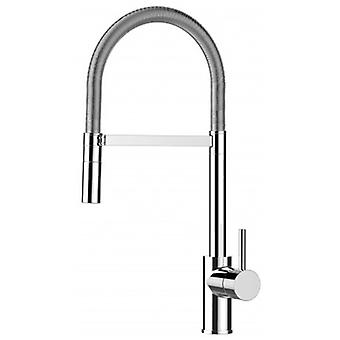 Kitchen Single-lever Sink Mixer With Stainless Steel Spring and 2 Jets Shower - 480