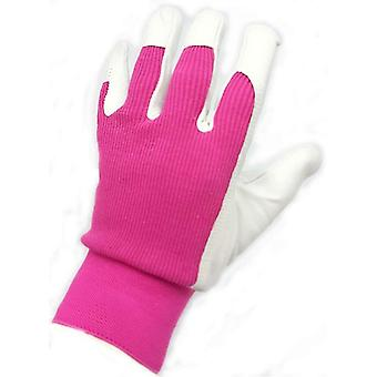 Briers Professional Leather Lady Gardener / Utility Gloves Medium Size 8 - Pink