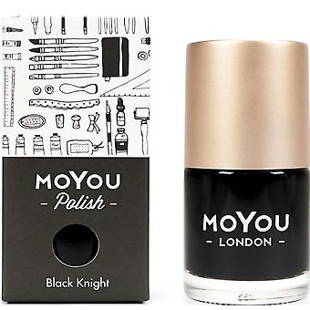 MoYou London Stamping Nail Laque - Black Knight 15ml (mnb013)