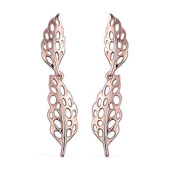 RACHEL GALLEY 925 Boucles d'oreilles en plumes en treillis en argent sterling pour femmes et filles