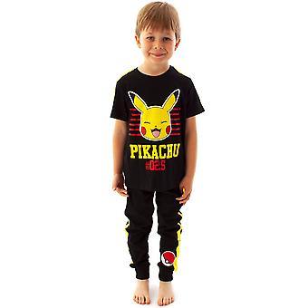 Pokémon Pikachu Pyjamas Kids T-Shirt e Bottoms PJ's Set